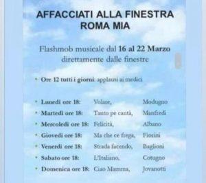 AFFACCIATI ALLA FINESTRA ROMA MIA!
